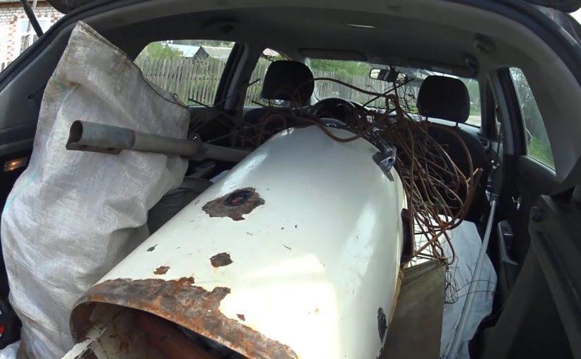 Предприимчивые новороссийцы сдали на металл чужой автомобиль