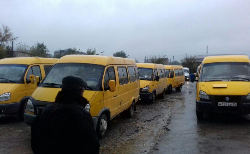Сегодня в полдень большинство новороссийских маршрутчиков прекратили работу