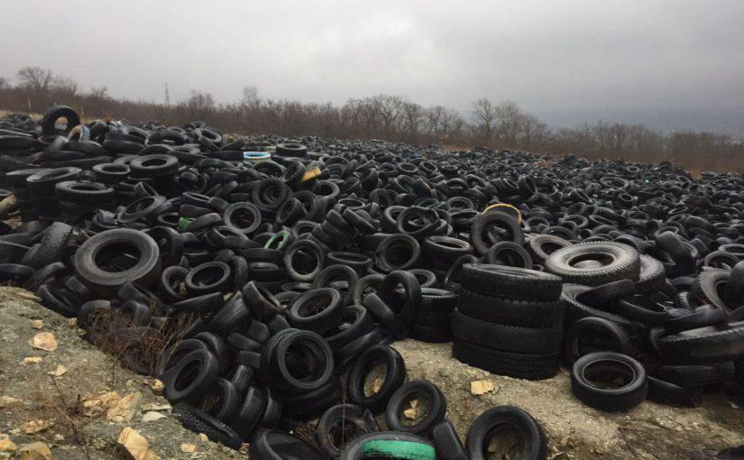 Из-под Новороссийска 8 месяцев вывозили бэушные шины