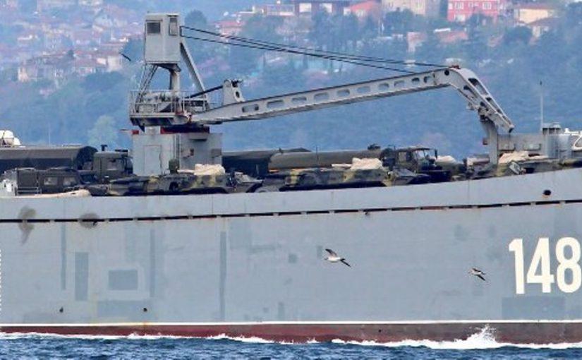 Корабли из Новороссийска в Сирии разгружают под дымовой завесой