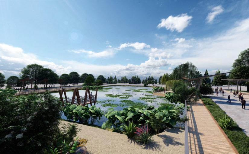 В Новороссийске к Южным прудам подведут деревянную набережную?