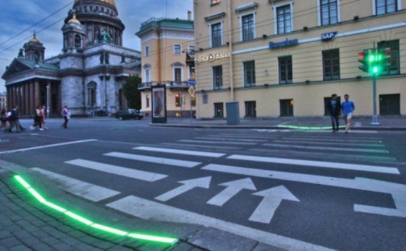 В Новороссийске сигналы светофоров «загорятся» на тротуаре