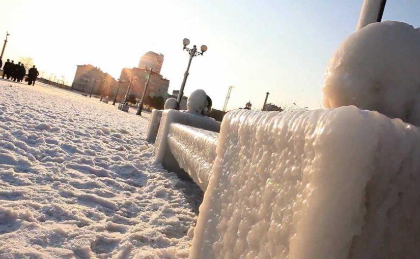 120 лет назад замерз новороссийский порт