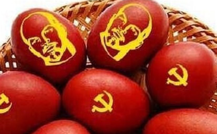 В Новороссийске на Пасху яйца украшали изображением Ленина?