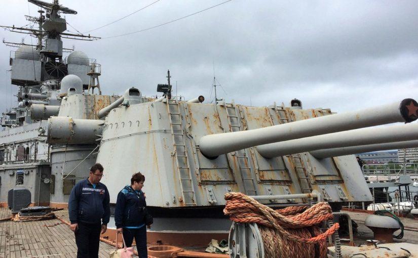 В Новороссийске у крейсера «Михаил Кутузов» проблемы с днищем