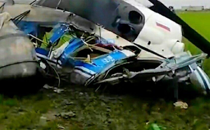 В районе трассы Краснодар — Новороссийск разбился вертолет